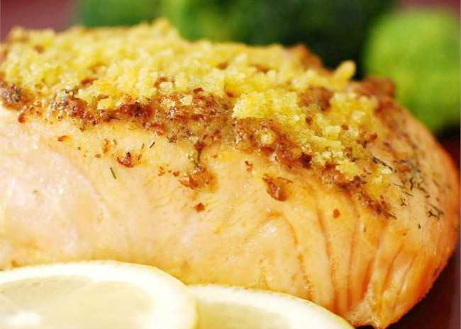 Baked Salmon Filets Dijon