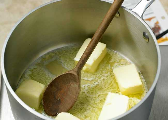 Melting Butter for Brown Butter