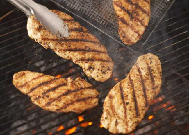 Pounded Chicken Breasts on the Grill