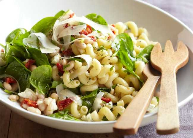 Greek Pasta with Feta and Beans