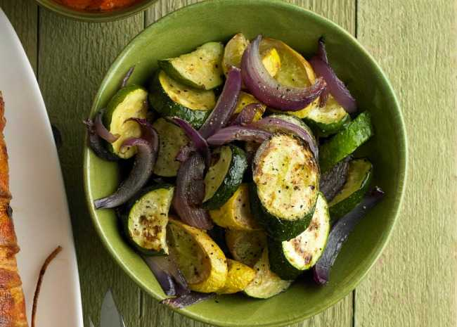 Sauteed Zucchini and Red Onions
