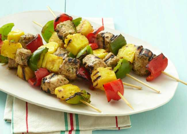 Pineapple and Chicken Skewers