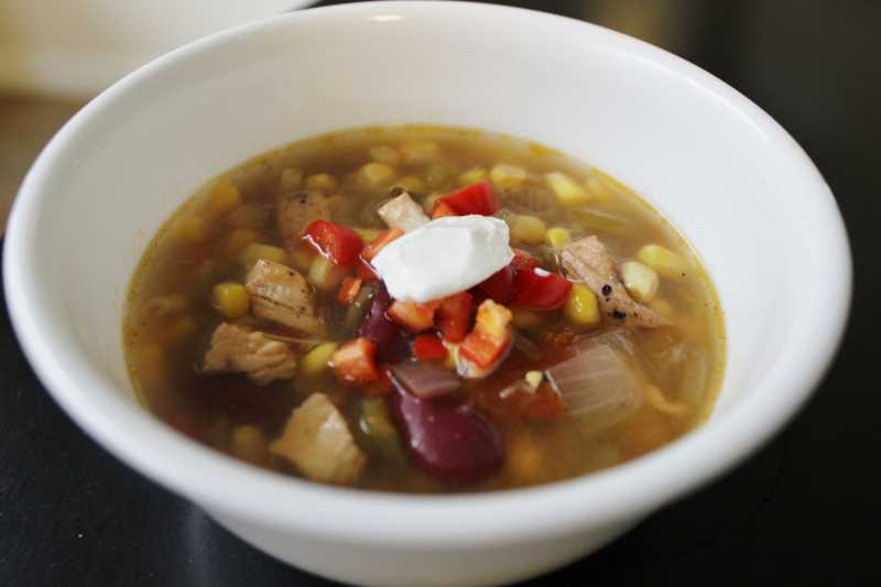 Southwest Black Bean Chicken Soup