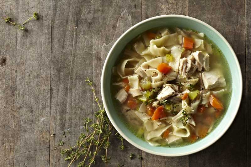 How to make chicken soup using stock