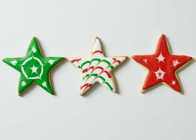 Decorated Sugar Cookie Cut-Out Stars
