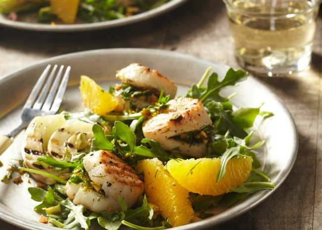Arugula Salad with Scallops