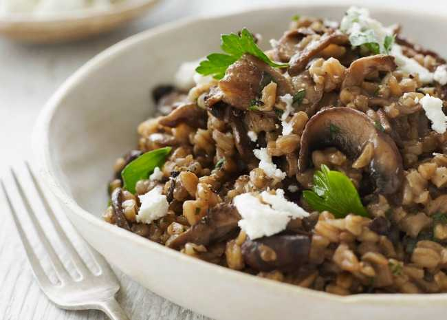 Wild Mushrooms and Brown Rice