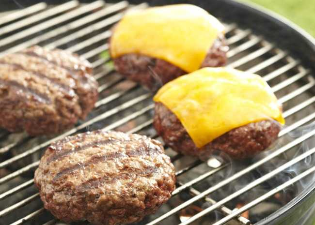 Burgers on the Charcoal Grill