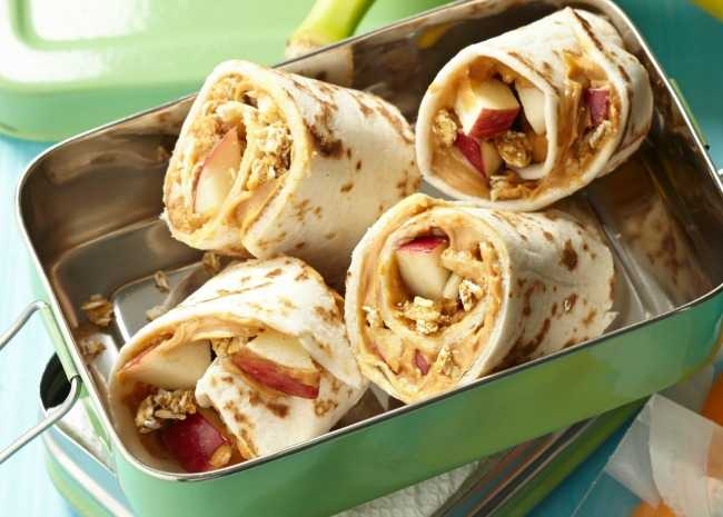 Fruit and Nut Butter Breakfast Wrap