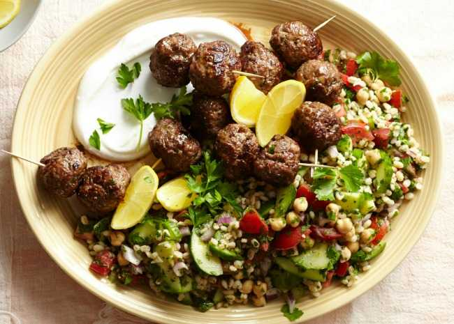 Meatballs with Labneh