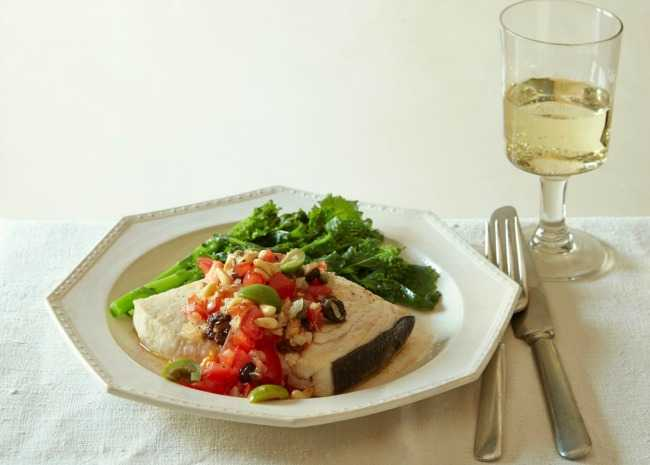Swordfish Italian with Sauvignon Blanc