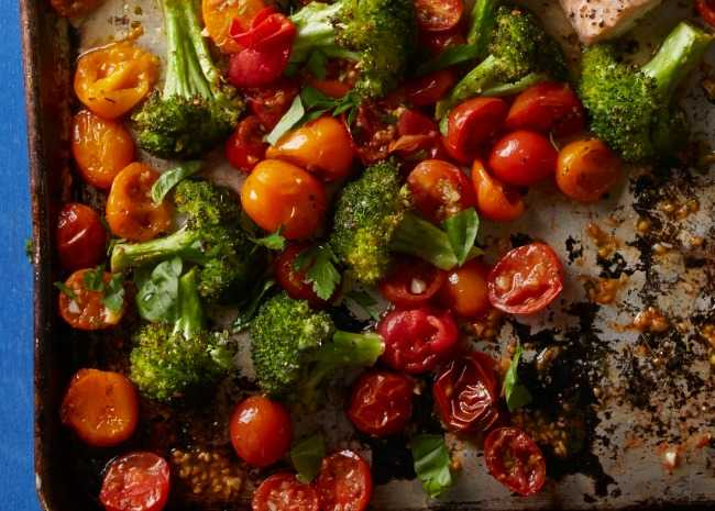 Blasted Broccoli and Tomatoes