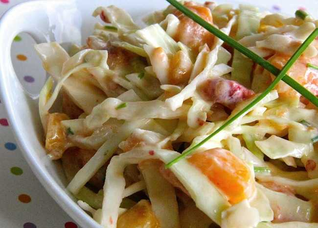 Spicy Peach Coleslaw