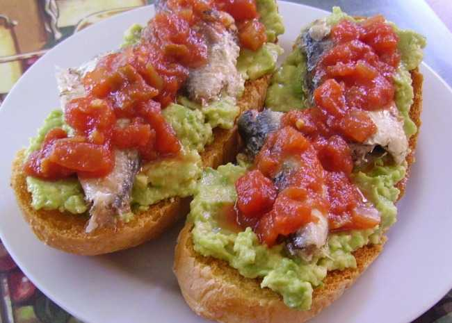 Avocado Salsa and Sardine Frenchy