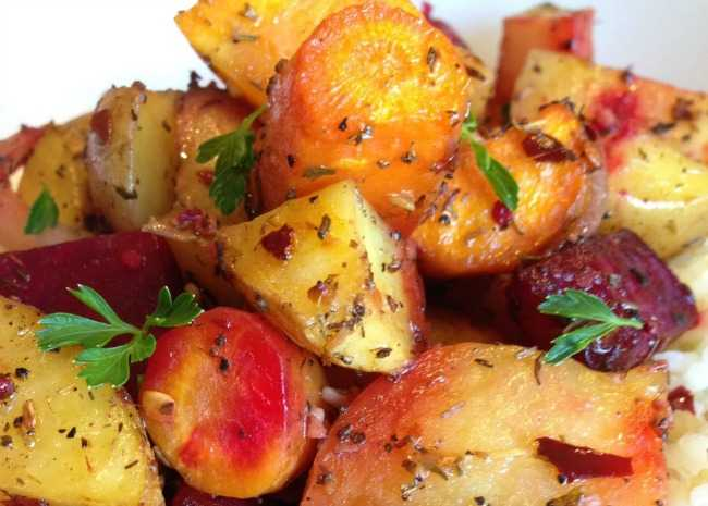 Savory Roasted Root Vegetables