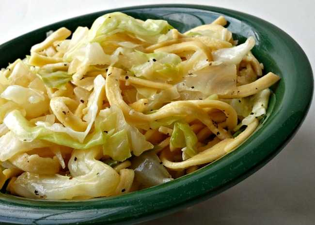 Cabbage Balushka or Cabbage and Noodles