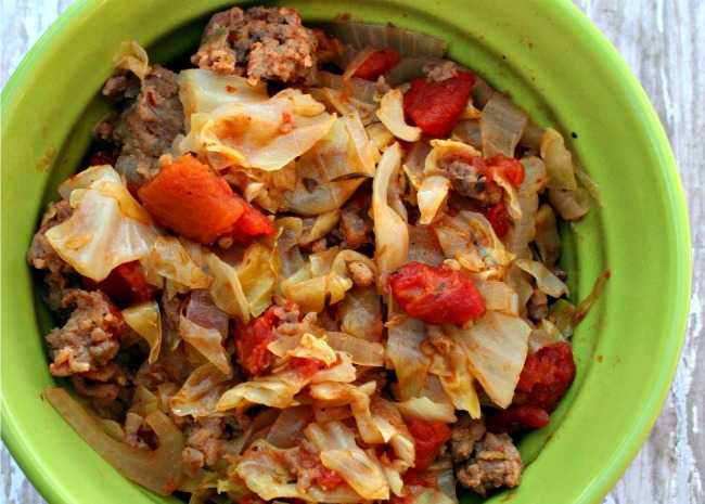 Ground Beef and Cabbage