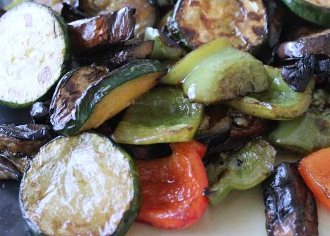 Grilled Vegetables with Balsamic Vinegar