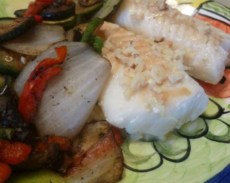 Cod with Lemon Garlic and Chives