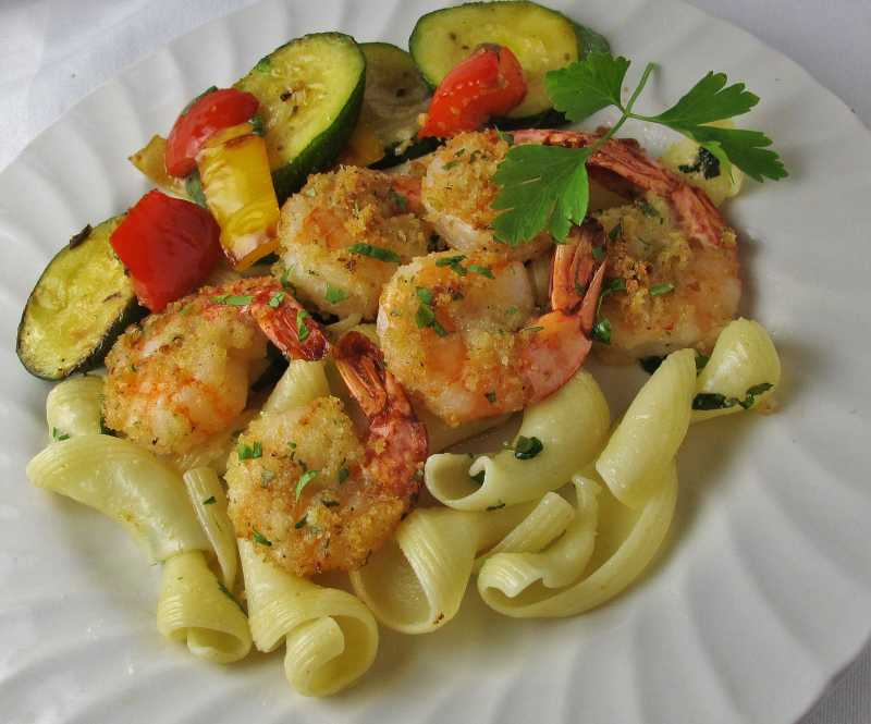 Baked Shrimp Scampi with Zucchini
