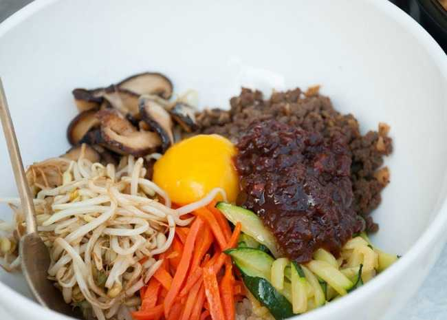 Bibimbap (Korean Rice With Mixed Vegetables)