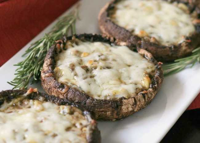 Pesto-Stuffed Grilled Portobellos