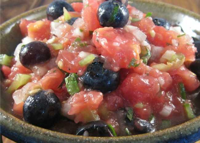 Maine Wild Blueberry Salsa
