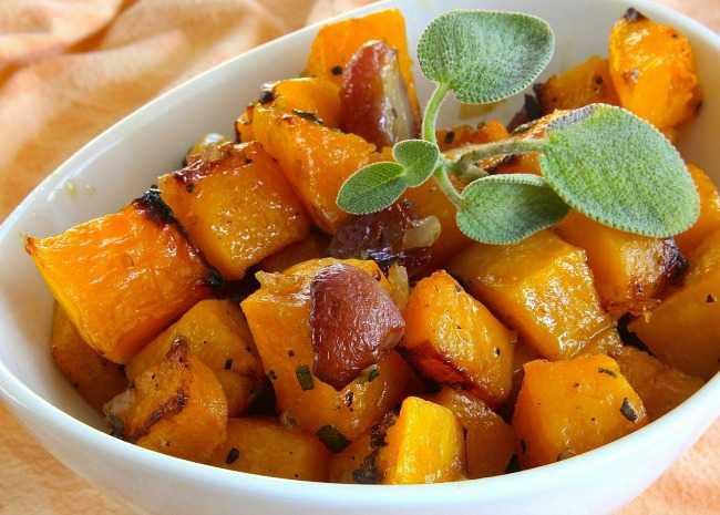 Butternut Squash with Grapes