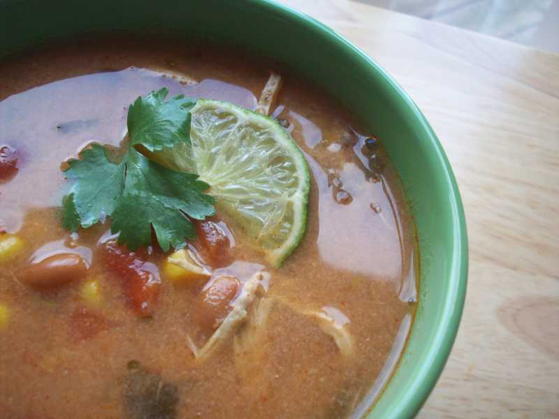 Slow Cookier Chicken Tortilla Soup