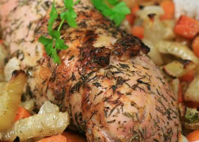 Roasted Carrot and Fennel Pork