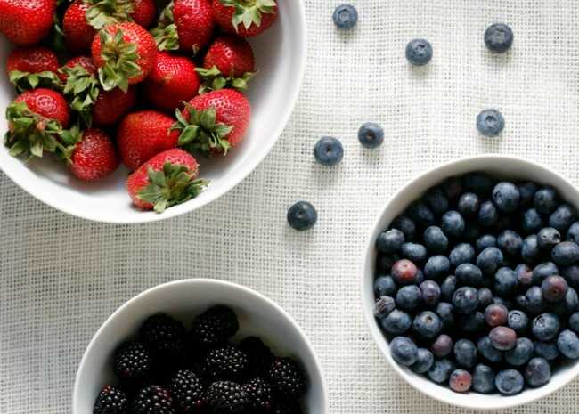 Strawberries, Blueberries, and Blackberries