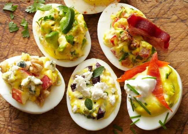 Assortment of Deviled Eggs