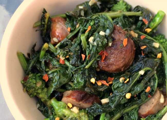 Paleo Broccoli Rabe and Sausage