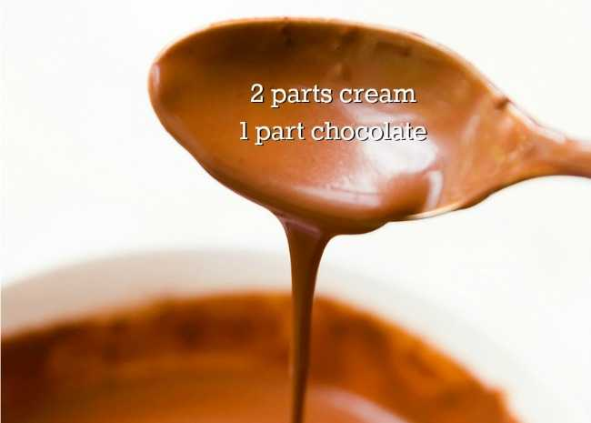 Two Parts Cream to One Part Chocolate