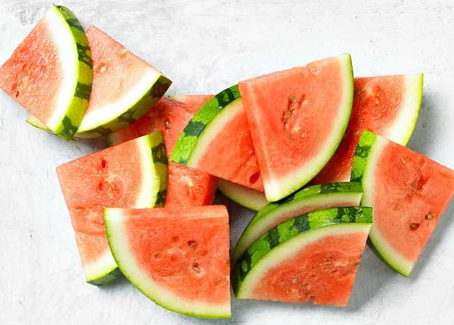 How to cut perfect watermelon triangles
