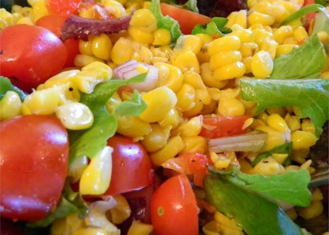 Roasted Corn and Heirloom Tomato Salad