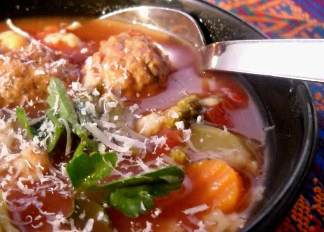 Hearty Italian Meatball Soup