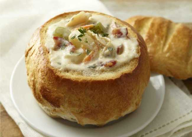 Bread Bowl with Clam Chowder