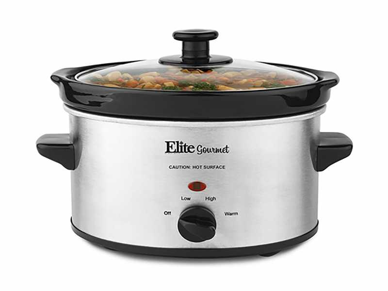 Elite Gourmet 2-Quart Electric Slow Cooker