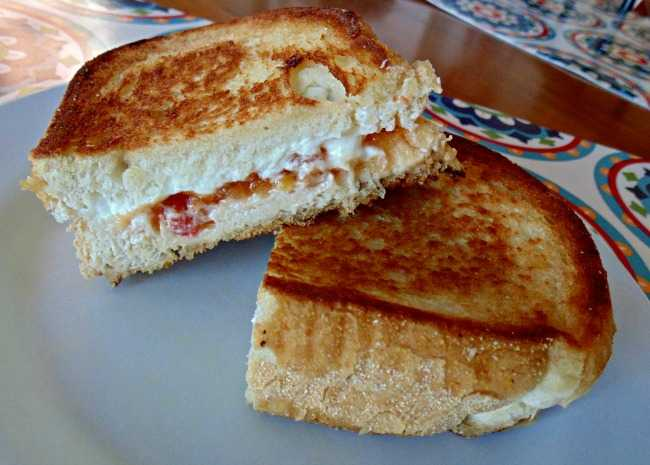 Grilled Goat Cheese and Mango Chutney Sandwich