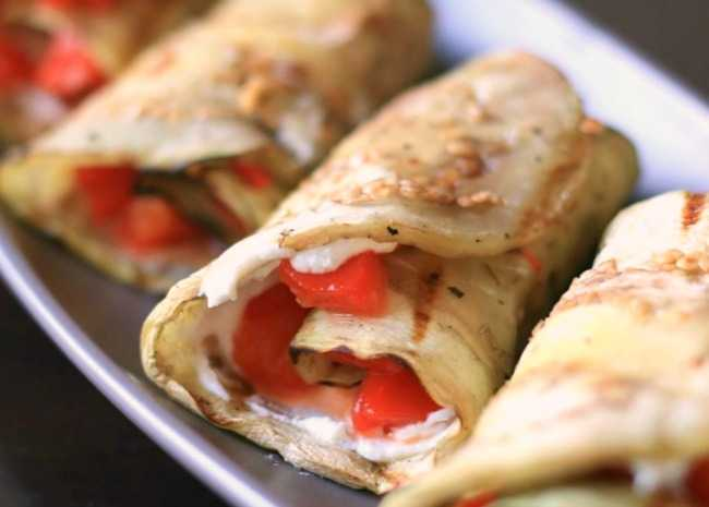 Grilled Eggplant Rollups