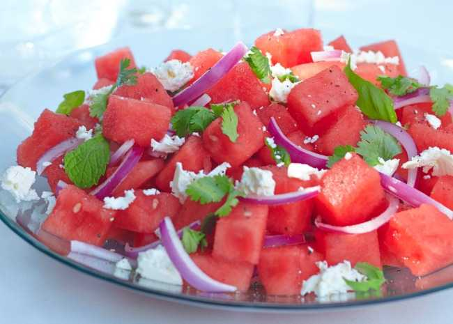 2432594 Herb Watermelon Feta Salad Photo by Allrecipes Magazine resized