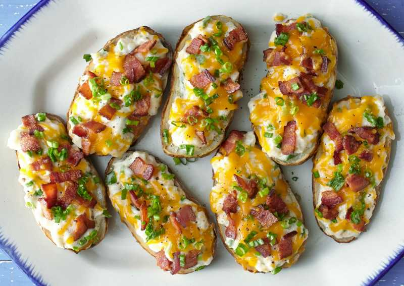 How to bake a potato four easy ways allrecipes ultimate twice baked potatoes ccuart Images