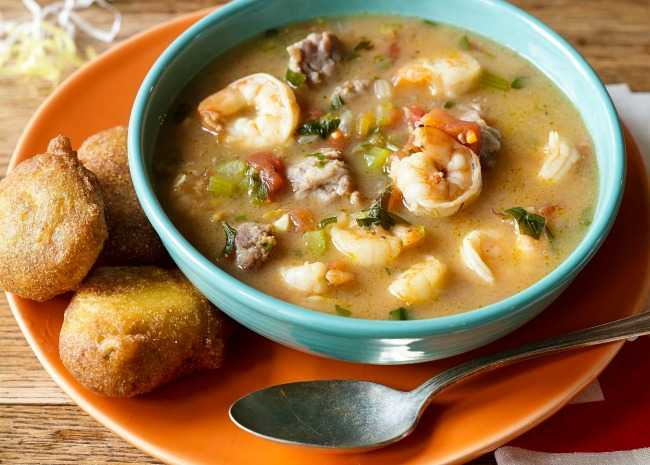 Favorite food and fun ideas for your mardi gras party allrecipes boudreauxs zydedo stomp gumbo forumfinder Image collections