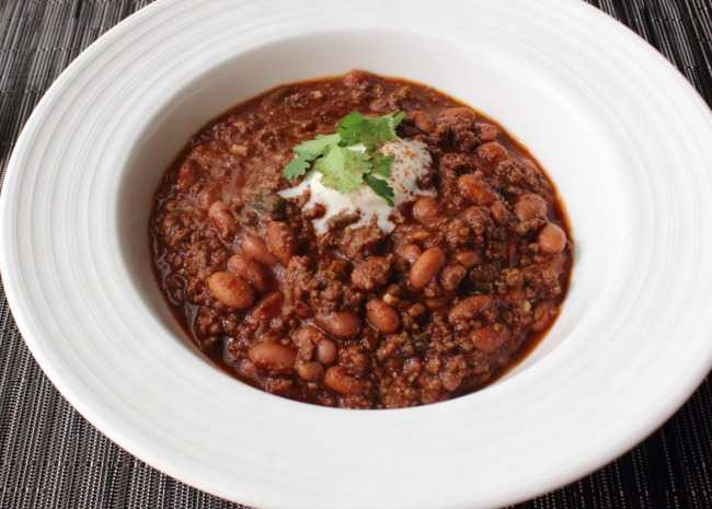 Beef Bean and Beer Chili