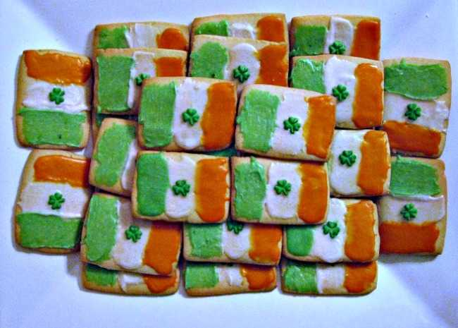 Irish Flag Cookies