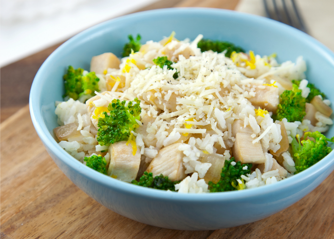 Lemon Parmesan Chicken and Rice Bowl
