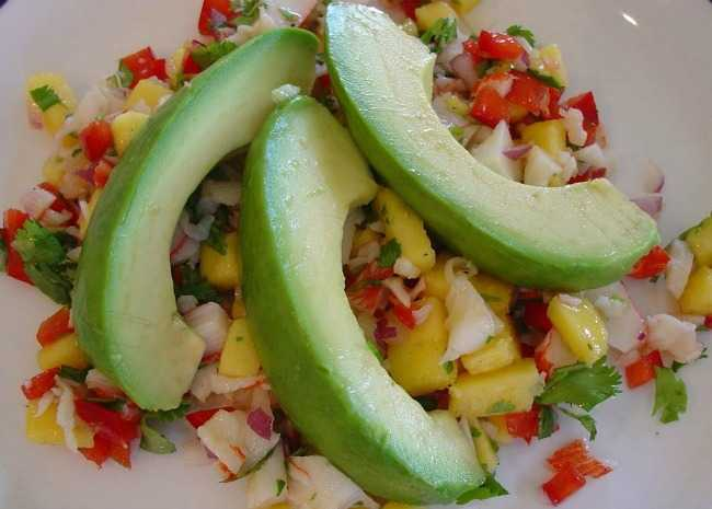 Crab & Avocado Salad with Fruit Salsa