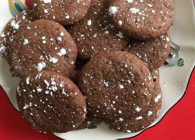 Chocolate Earl Grey Cookies