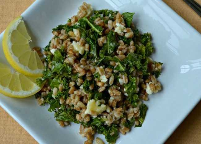 Healthy Warm Farro Salad